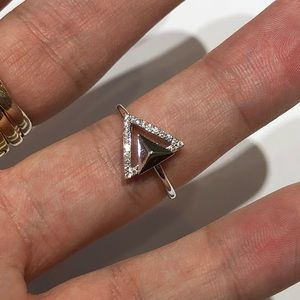 Jewelry - 18K WHITE GOLD DIAMOND STUD RING!!!